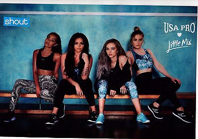 Little Mix Usa Pro A4 Laminated Poster Cut From Magazine