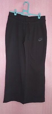 Girls 10-12 Black Nike Trousers Joggers Bottoms