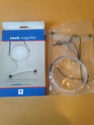 Neck Magnifier 2 & 4 Times Magnification New in Box Daylight Company