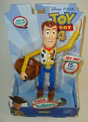 Disney Pixar Toy Story 4 Woody True Talkers Figure 15 Sounds & Phrases New