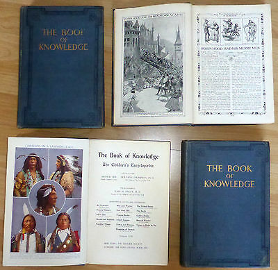 1911 The Book of Knowledge. MEE, ARTHUR : THE CHILDREN'S ENCYCLOPEDIA  New York