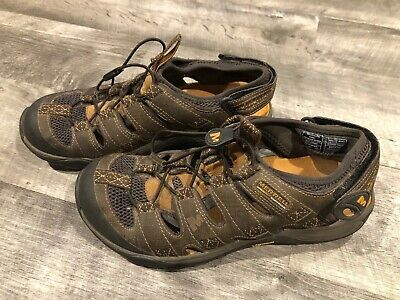 f43562aabecf Men s Merrell Continuum Vibram Brown Leather Water Sandals Shoes - Size 9