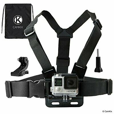 CamKix Chest Mount Harness compatible with Gopro Hero 7 6 5 Black Session H