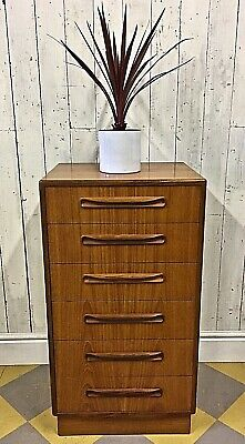 Vtg G-Plan Danish Mid Century Drawers Bedside Plan Heals Plan Chest Habitat 70s