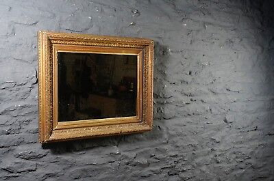 Good Sized Antique Gilt Framed Wall Mirror with Foxed Bevelled Glass