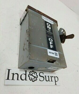 ge 30 amp fused disconnect 3r outdzoor fusible safety switch 240 volts hp  7 5