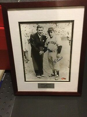 Yogi Berra & Babe Ruth Steiner  8x 10 photo framed in 11x14 frame