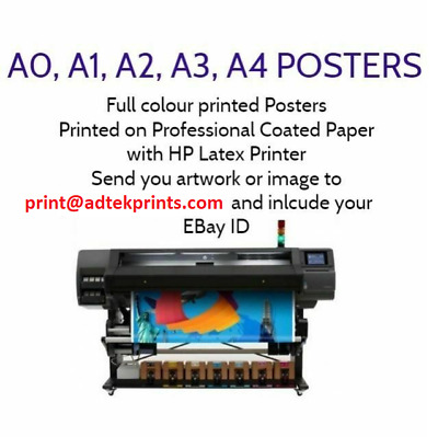 Your Photo Or Artwork On Paper Personalised Poster Print - A4 A3 A2 A1 A0 2A0