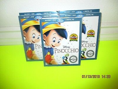 Pinocchio  (Blu-Ray + Dvd + Digital Hd)  With Slipcover