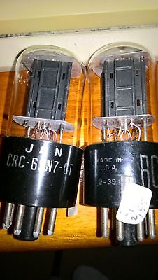 matched pair of RCA  6SN7GT  BLACK PLATE  FULLY TESTED