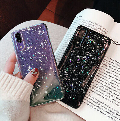 Luxury Bling Glitter Clear Soft Silicone Phone case For Huawei P20 / Lite / Pro
