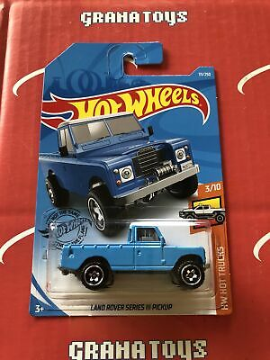 Land Rover Series III Pickup #111 Blue 2019 Hot Wheels Case K