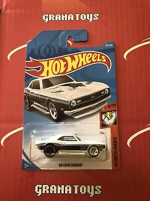 68 COPO Camaro #181 White Muscle Mania 2019 Hot Wheels Case J