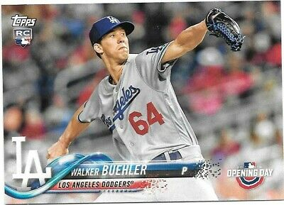 ab383bae913 LOT OF (14) 2018 Topps Opening Day RC Walker Buehler LA Los Angeles ...