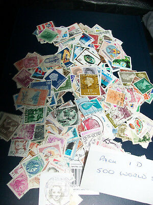 500 World Stamps Pack 1D