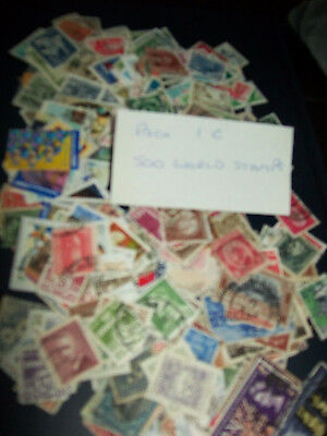 500 World Stamps Pack 1C