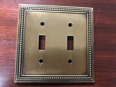 Double Switch Plate Cover Plated Brass Heavy*E10*