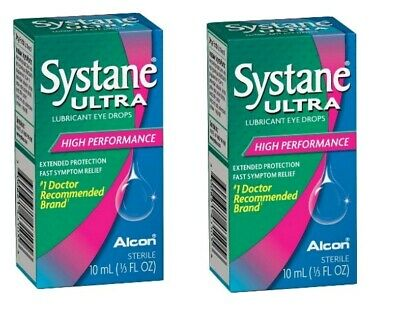 Systane ULTRA - SET OF (2) 10 m Lubricant Eye Drops High Performance EX 11/2019+