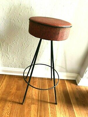 Vintage MID-CENTURY Modern BAR STOOL Dee Mfg CHAIR 1950s Atomic EAMES Retro MCM
