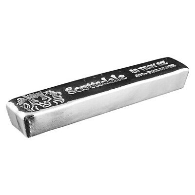 20 oz Scottsdale Mint Cast Silver Bar