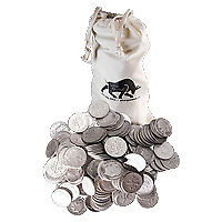 $10 Face Value Bag of U.S. Circulation 90% Pure Silver Coins