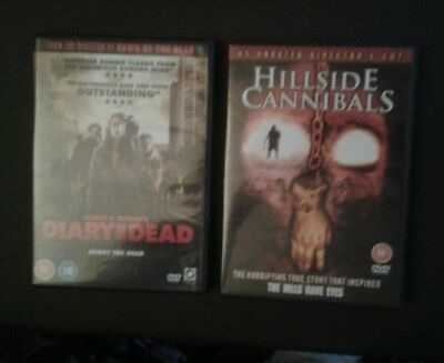 DIARY OF THE DEAD/HILLSIDE CANNIBALS DVDs