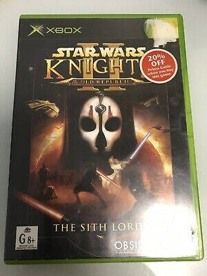 Star Wars: Knights Of The Old Republic 2 The Sith Lords (Microsoft Xbox, 2003)