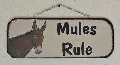 Mule Sign Hand Painted Art
