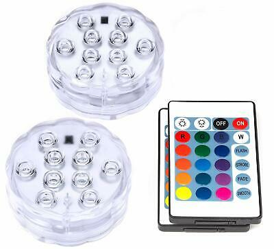 Waterproof Submersible Led Lights With Remote Control Battery Operated Tools Kit