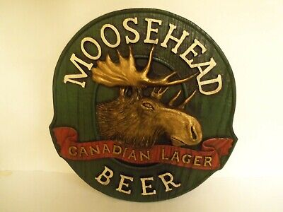 """Moosehead Canadian Lager BEER Advertising Sign 14""""x12 Man Cave 3 Dimensional"""