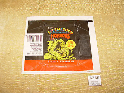 Topps Little Shop Of Horrors Trading Card Packet Wrapper Flat Ready To Frame Htf