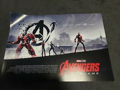 "Avengers Endgame AMC IMAX Poster 11"" x 15.5 ""  Marvel/Disney (Slightly Damaged)"