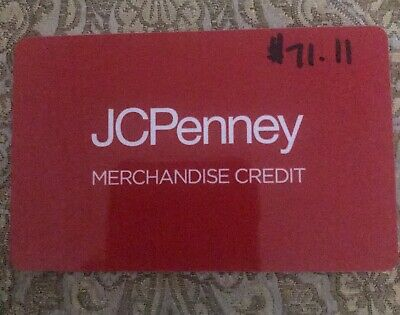 76cc52bb3 Like us on Facebook · JCPenney Store Gift card Merchandise Credit  71.11