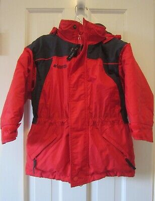 af175e75e COLUMBIA FOR TALBOTS SPORTSWEAR Toddler Boy's Winter SKI JACKET RED HOODED  SZ 4T