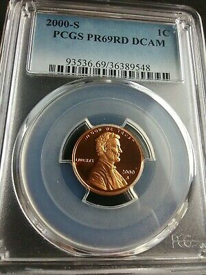 *2000 S* PCGS Proof PR69RD DCAM* 1C Lincoln Memorial Penny Copper One Cent Coin!