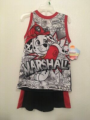 Paw Patrol Boys 2 Pc Sleeveless Tank And Shorts Outfit Size 5