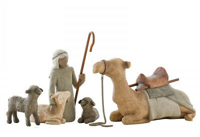 Willow Tree Figurine Nativity Collection - Shepherd and Stable Animals by Susan