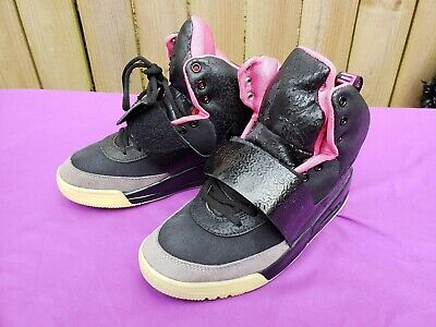 40b3f6bb NIKE AIR YEEZY 1 BLACK PINK BLINK Size 8 Kanye West Authentic ...