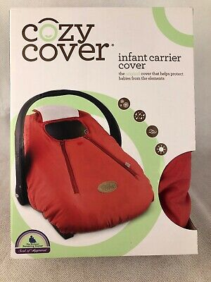 Cozy Cover Infant Carrier Baby Car Seat Cover CAYENNE Red Soft Winter Protection