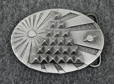 Vintage Celestial Pyramid Sun Saturn Cosmos Belt Buckle Made In USA