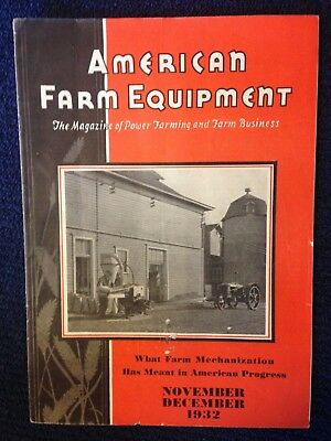 1932 American Farm Equipment Business magazine antique case tractor brochure