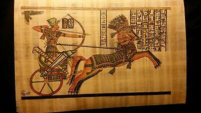 Handmade Egyptian Papyrus with vivid color designs.
