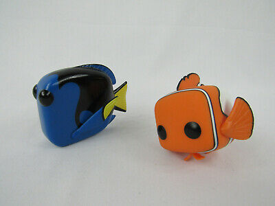 Finding Nemo Funko POP Nemo Dory Loose Vaulted Lot of 2 Figures VG Finding Dory