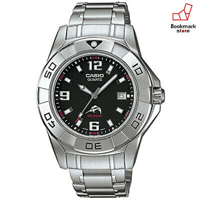 NEW Casio 200M Silver Watch Analog Model Mdv-100D-1AJF Men's DIVER from Japan