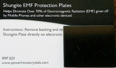 SHUNGITE PHONE PLATE - miracle healing stone - EMF protection NEW Larger  Plates