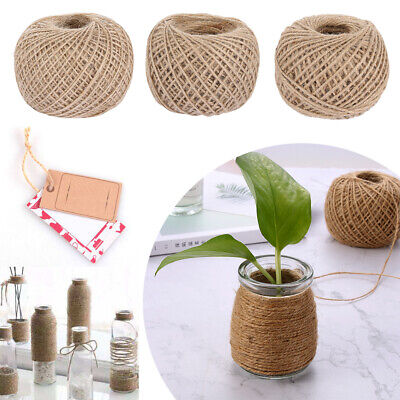 Decor String Cords Twine Gift Packing Bag Burlap Natural Jute Rope Hessian