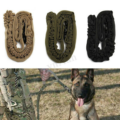 138cm Tactical Dog Leash Leads Elastic Bungee Control Handle Training Army Rope