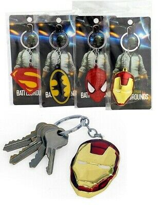 Super Hero The Avengers Spider Man Mask Metal Keychain Key Ring Pendant LS95664
