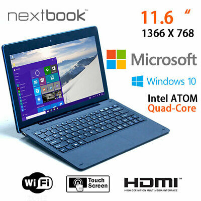 Nextbook 11.6 Inch 64G Windows 10 Quad Core with HDMI Output Tablet PC