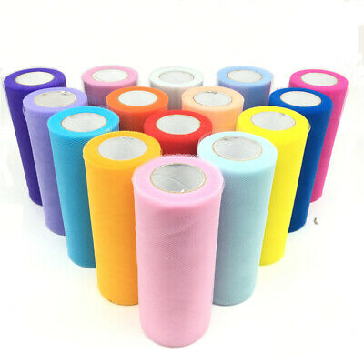 """6""""x25Y Tulle Roll Spool Tutu Wedding Gifts Craft Party Decoration Fabric"""